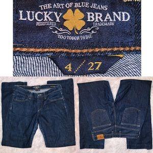 Lucky Brand Easy Rider Dark Blue Jeans Size 4/27
